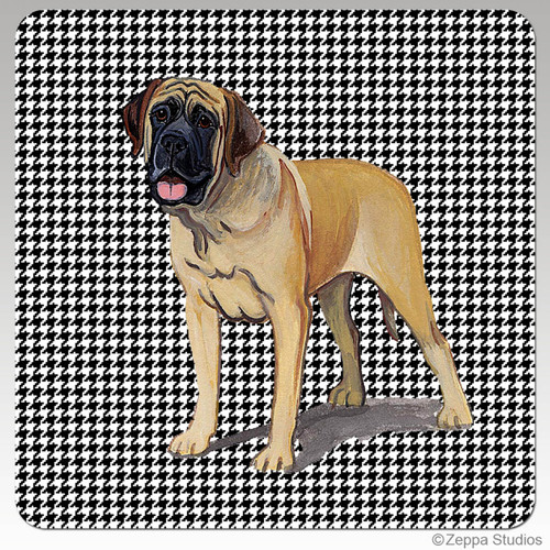 Mastiff Houndzstooth Coasters