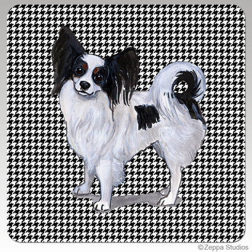 Papillon Houndzstooth Coasters
