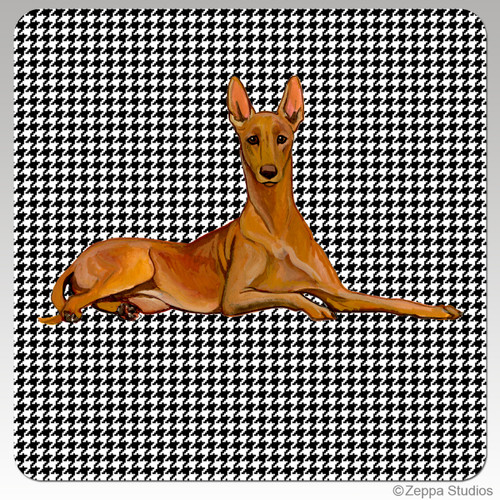 Pharaoh Hound Houndzstooth Coasters