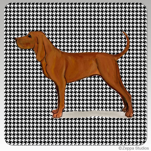 Redbone Coonhound Houndzstooth Coasters - Rectangle