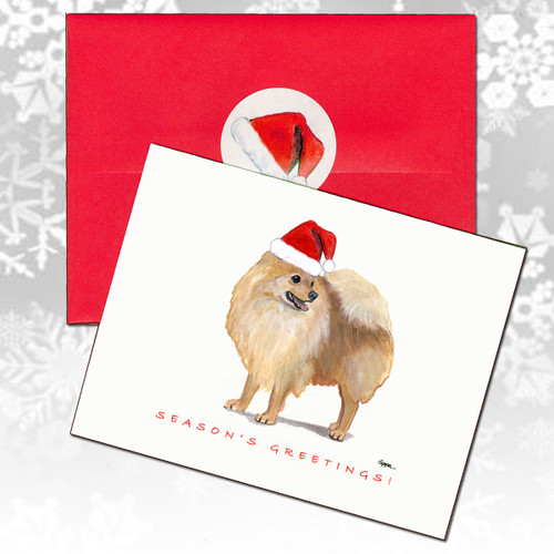 Pomeranian Christmas Cards