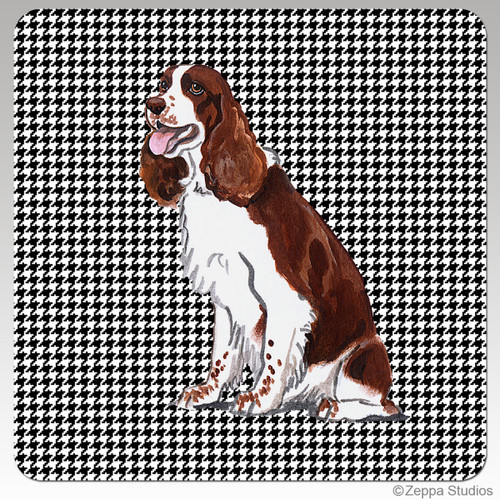 Springer Spaniel Houndzstooth Coasters