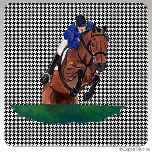 Hunter Jumper Houndzstooth Coasters