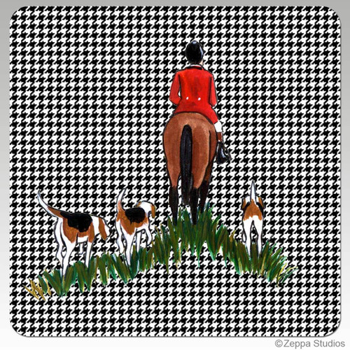 Fox Hunt Houndzstooth Coasters