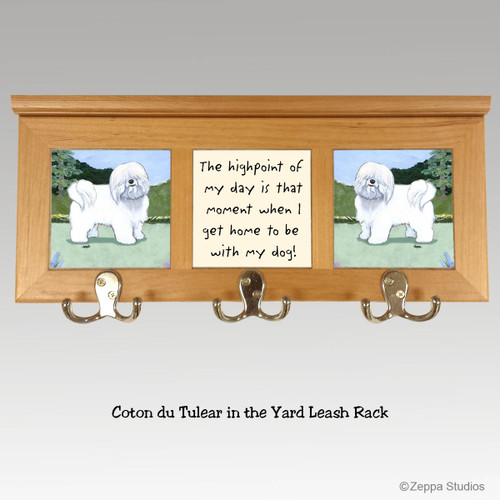 Coton du Tulear Tile Leash Rack