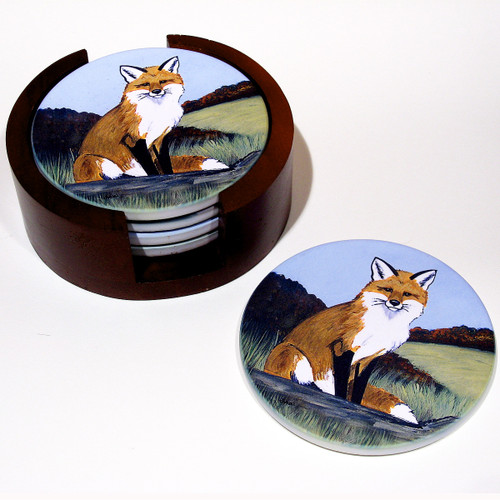 Fur Children Bisque Coasters - Matching Set of 4