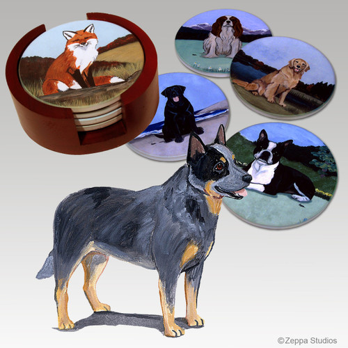Australian Cattle Dog Bisque Coaster Set