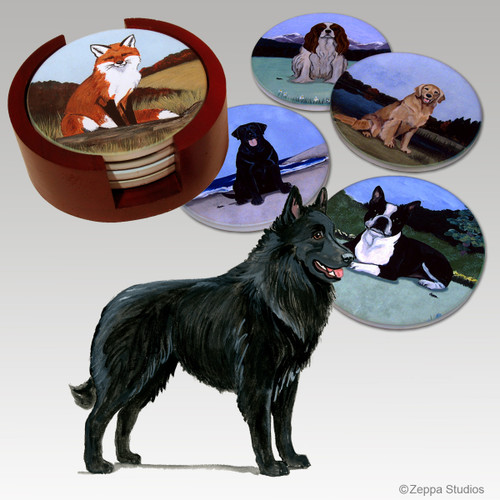 Belgian Shepherd Bisque Coaster Set