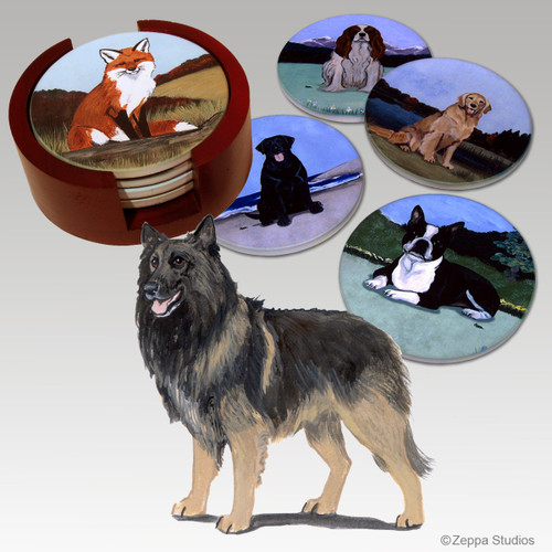 Belgian Tervuren Bisque Coaster Set
