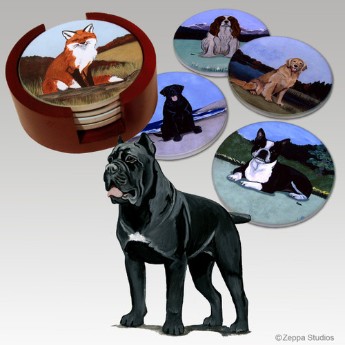 Cane Corso Bisque Coaster Set