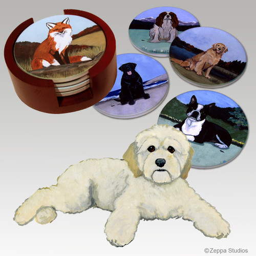 Cockapoo Bisque Coaster Set