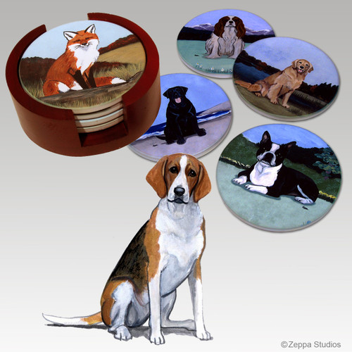 Foxhound Bisque Coaster Set