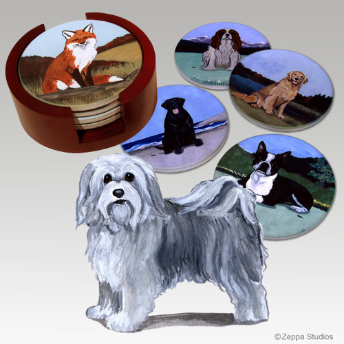 Havanese Bisque Coaster Set