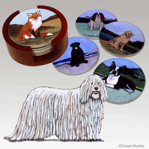 Komondor Bisque Coaster Set