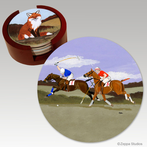Polo  Bisque Coaster Set