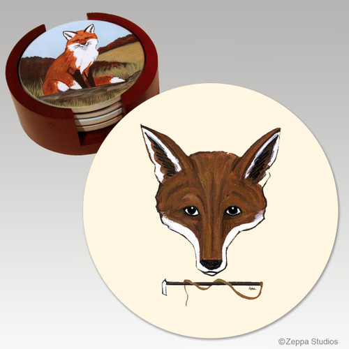 Fox Mask Bisque Coaster Set