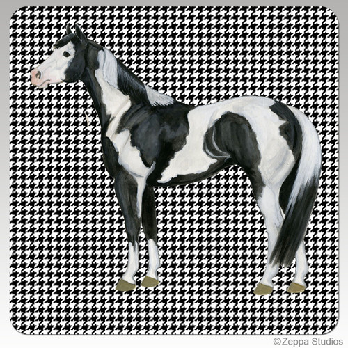 Paint Horse Houndzstooth Coasters