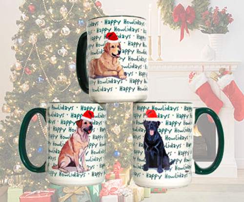 Pyrenean Shepherd Christmas Mugs