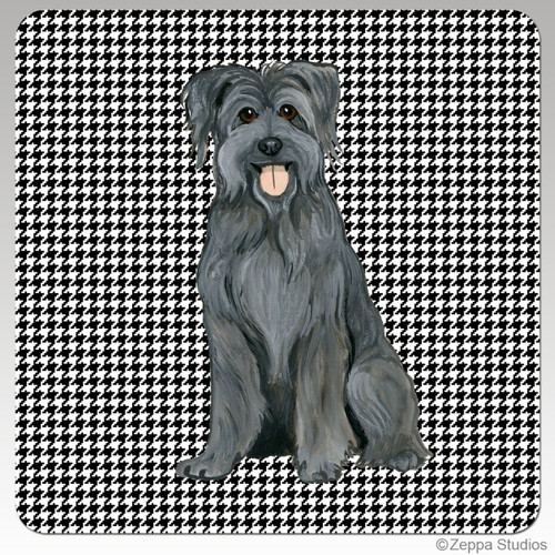 Pyrenean Shepherd Houndzstooth Coasters