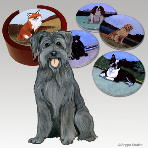 Pyrenean Shepherd Bisque Coaster Set