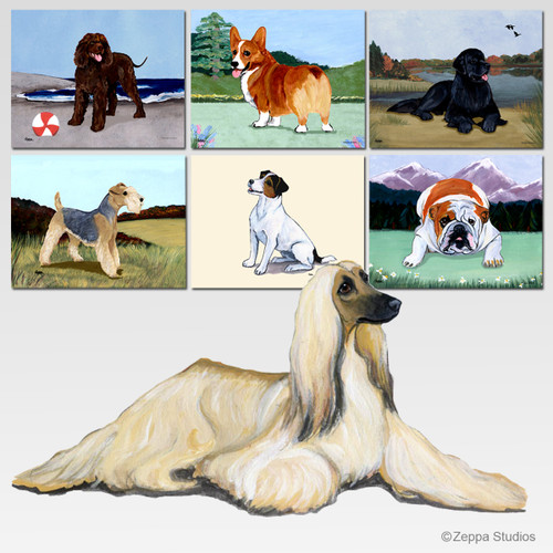 Afghan Hound Scenic Mouse Pad