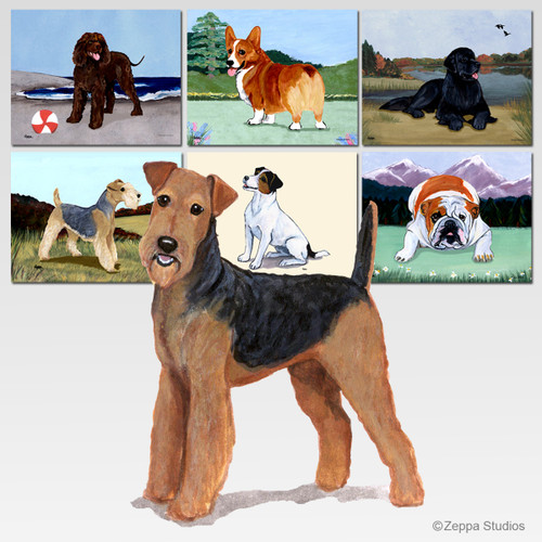 Airedale Scenic Mouse Pad