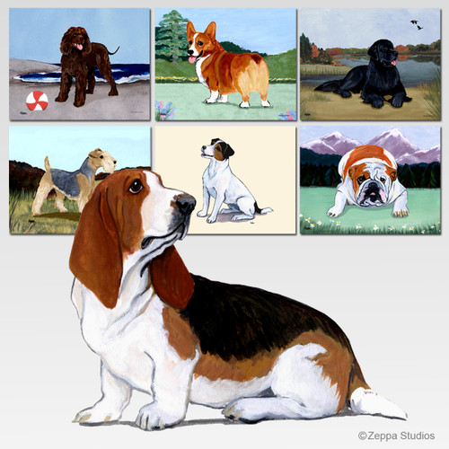 Basset Hound Scenic Mouse Pads