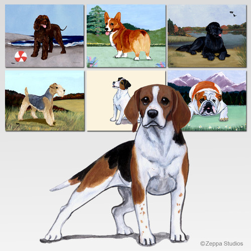 Beagle Scenic Mouse Pads