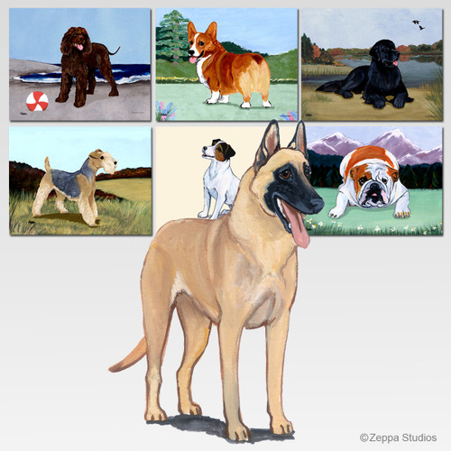 Belgian Malinois Scenic Mouse Pads
