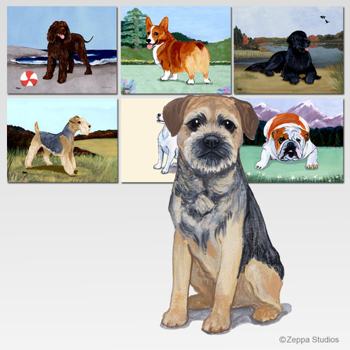 Border Terrier Scenic Mouse Pad