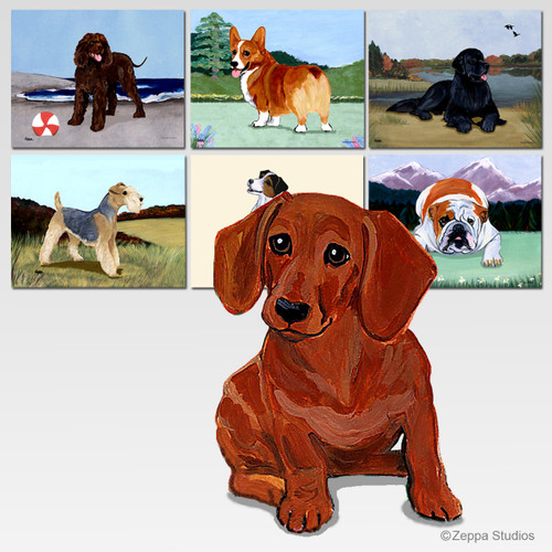 Dachshund Red Scenic Mouse Pad