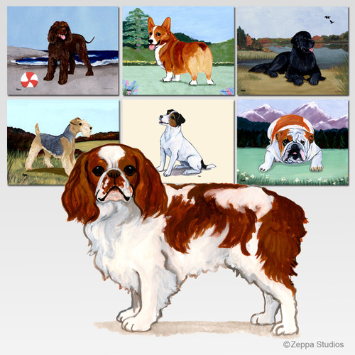 English Toy Spaniel Scenic Mouse Pad