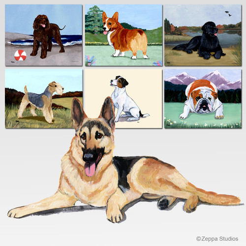 German Shepherd Scenic Mouse Pad