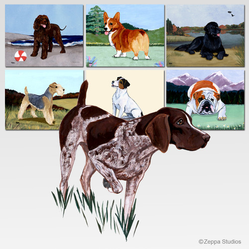 German Shorthair Pointer Scenic Mouse Pad