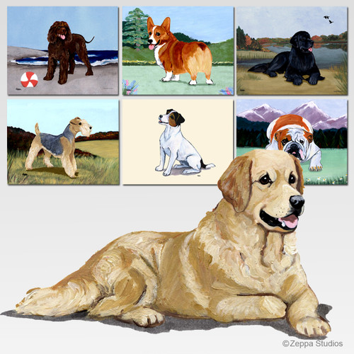 Golden Retriever Scenic Mouse Pad