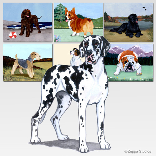 Uncropped Great Dane Scenic Mouse Pad