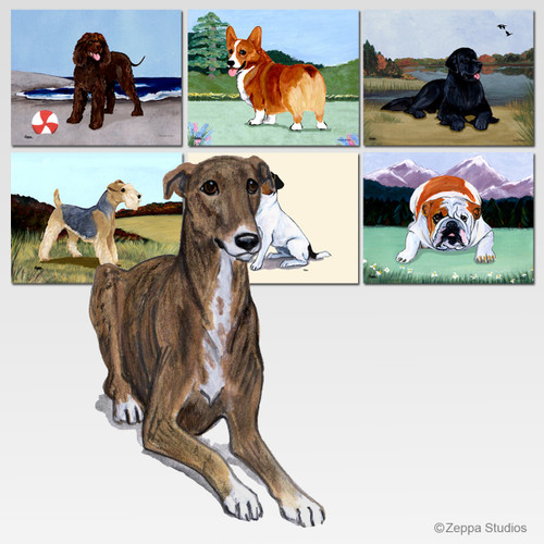 Greyhound Scenic Mouse Pad