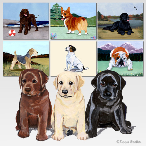 Lab Puppies Scenic Mouse Pad