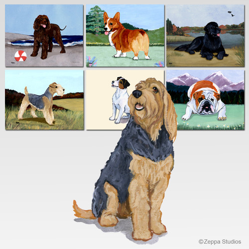 Otterhound Scenic Mouse Pad