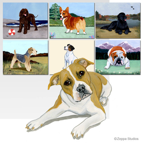 Pit Bull Scenic Mouse Pads