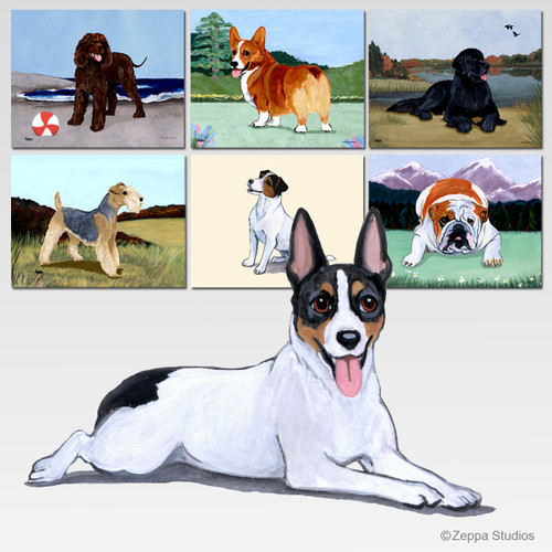 Rat Terrier Scenic Mouse Pad - Rectangle