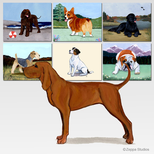 Redbone Coonhound Scenic Mouse Pad - Rectangle