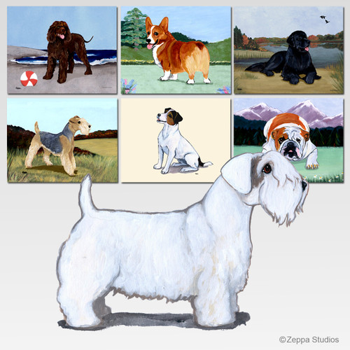 Sealyham Terrier Scenic Mouse Pad - Rectangle