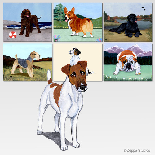 Smooth Fox Terrier Scenic Mouse Pad - Rectangle