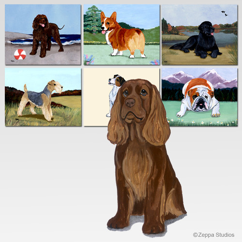Sussex Spaniel Scenic Mouse Pad - Rectangle