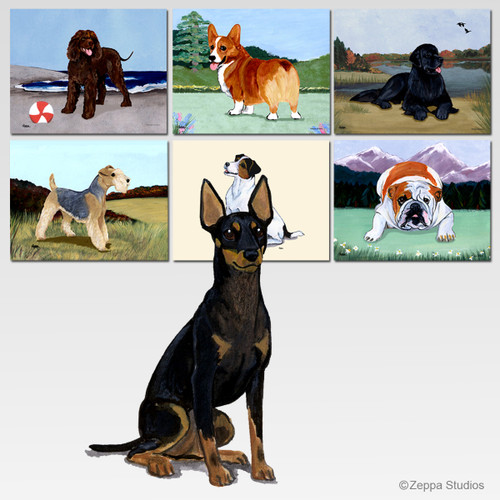 Toy Manchester Terrier Scenic Mouse Pad - Rectangle