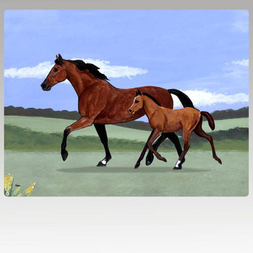 Mare & Foal Scenic Mouse Pad