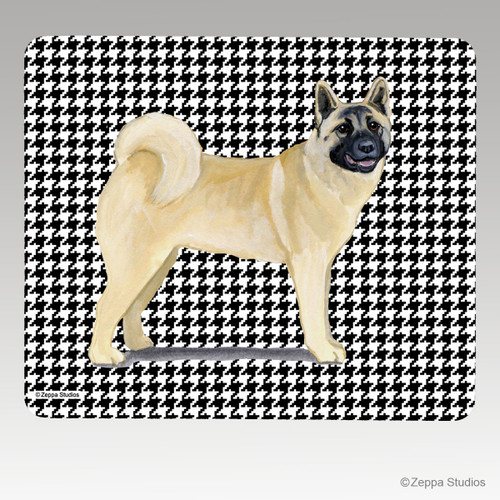 Akita Houndstooth Mouse Pad