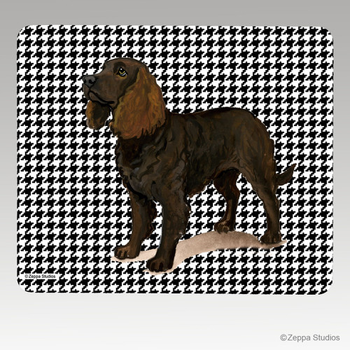 American Water Spaniel Houndstooth Mouse Pad