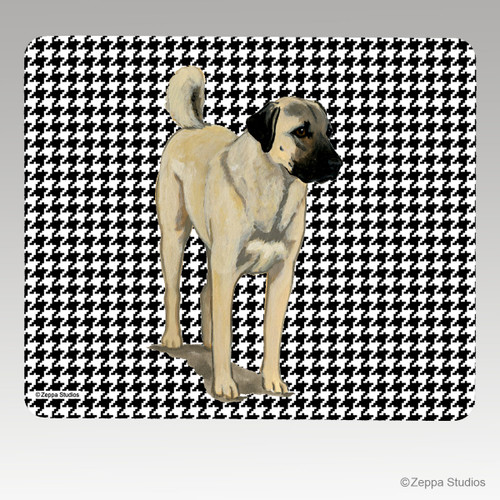 Anatolian Shepherd Houndstooth Mouse Pad